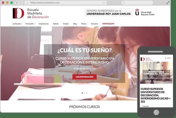Web de la Escuela Madrileña de Decoración
