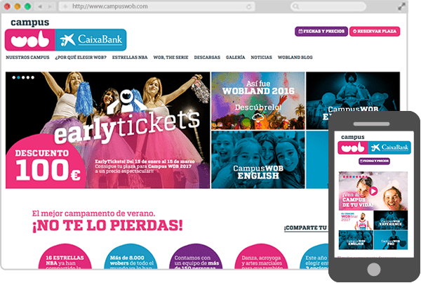 Web de Campus WOB CaixaBank