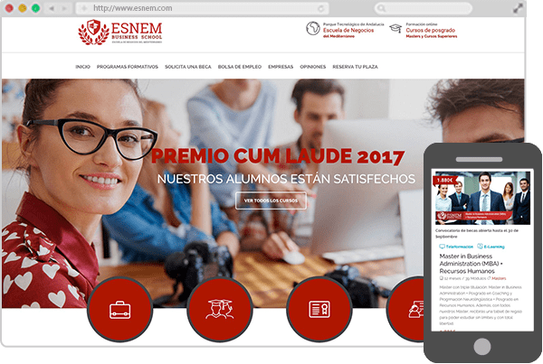 Web de ESNEM Business School